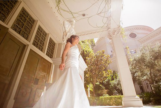 Ceasars Palace Gardens Destination Wedding