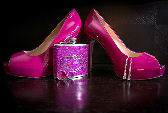 Wedding ring Pink shoes