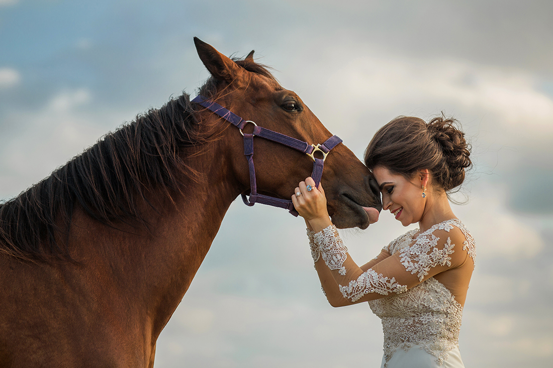 Bridal Session with Horse